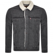 Product Image for Levis Denim Sherpa Trucker Jacket Grey