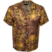 Product Image for Versace Jeans Couture Short Sleeved Shirt Brown