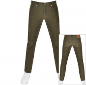 Levis 511 Slim Fit Corduroy Trousers Green