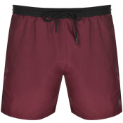 BOSS HUGO BOSS Starfish Swim Shorts Burgundy