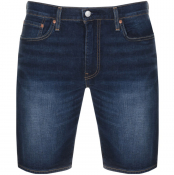 Levis 502 Regular Tapered Denim Shorts Blue