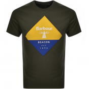 Barbour Beacon Diamond T Shirt Green