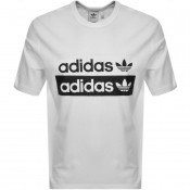adidas Originals Vocal Trefoil Logo T Shirt White