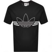 adidas Originals Trefoil Outline T Shirt Black