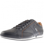 BOSS HUGO BOSS Saturn Lowp Trainers Navy