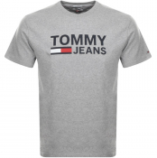 Tommy Jeans Logo T Shirt Grey