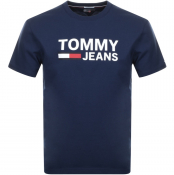 Product Image for Tommy Jeans Logo T Shirt Navy
