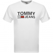 Tommy Jeans Logo T Shirt White
