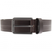 BOSS HUGO BOSS Tylir Stripe Belt Brown