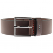 HUGO Giove Leather Belt Brown