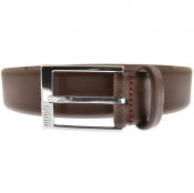 HUGO Gellot Leather Belt Brown
