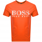 Product Image for BOSS HUGO BOSS UV Protection Logo T Shirt Orange