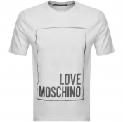 Product Image for Love Moschino Box Logo T Shirt White