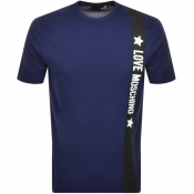 Product Image for Love Moschino Logo T Shirt Navy