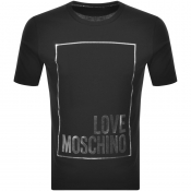 Love Moschino Box Logo T Shirt Black