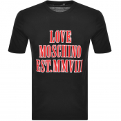 Product Image for Love Moschino Logo T Shirt Black