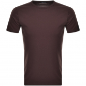 Replay Logo Crew Neck T Shirt Brown