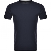 Product Image for Replay Logo Crew Neck T Shirt Navy