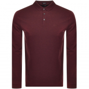 BOSS HUGO BOSS Pado 10 Long Sleeved Polo Burgundy