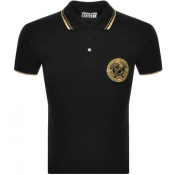 Versace Jeans Couture Logo Polo T Shirt Black