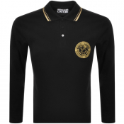 Versace Jeans Couture Long Sleeve Polo Shirt Black