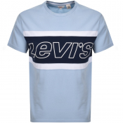 Levis Crew Neck Colour Block Logo T Shirt Blue