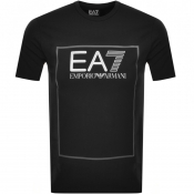 Product Image for EA7 Emporio Armani Box Logo T Shirt Black