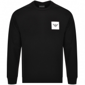 Product Image for Emporio Armani Crew Neck Logo Sweatshirt Black
