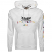 Product Image for Levis Strauss Pullover 2 Horse Logo Hoodie White