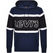 Product Image for Levis Colour Block Logo Hoodie Navy