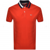 Tommy Jeans Flack Polo T Shirt Red
