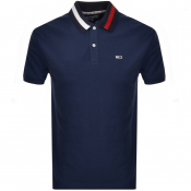 Tommy Jeans Flack Polo T Shirt Navy