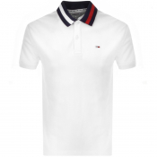 Product Image for Tommy Jeans Flack Polo T Shirt White