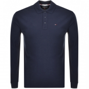 Product Image for Tommy Jeans Long Sleeved Polo T Shirt Navy