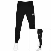 EA7 Emporio Armani Tape Logo Jogging Bottoms Black