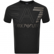 Product Image for EA7 Emporio Armani Crew Neck Logo T Shirt Grey