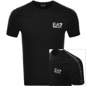 EA7 Emporio Armani Taped Logo T Shirt Black