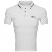 EA7 Emporio Armani Tipped Polo T Shirt White