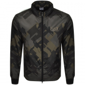 EA7 Emporio Armani Full Zip Logo Jacket Green