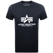 Product Image for Alpha Industries Basic Logo T Shirt Navy