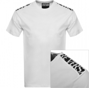 Versace Jeans Couture Tape Logo T Shirt White
