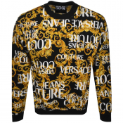 Versace Jeans Couture Crew Neck Sweatshirt Black