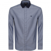 Product Image for Emporio Armani Long Sleeved Contrast Shirt Navy