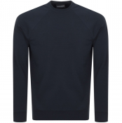Product Image for Emporio Armani Crew Neck Logo Sweatshirt Blue