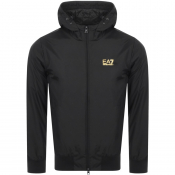 Product Image for EA7 Emporio Armani Hooded Logo Jacket Black