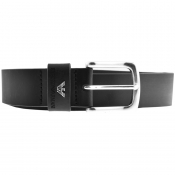 Emporio Armani Logo Leather Belt Black