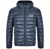 Product Image for EA7 Emporio Armani Quilted Jacket Blue