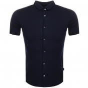 Emporio Armani Slim Fit Polo T Shirt Navy