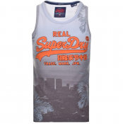 Superdry Vintage Real Logo Vest T Shirt Grey
