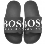 BOSS Athleisure Solar Sliders Black